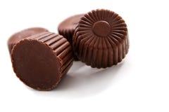 Chocolates arredondados fotografia de stock