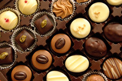 Chocolates Assorted Imagens de Stock Royalty Free