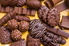 Chocolates Assorted imagens de stock royalty free