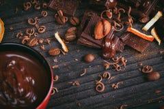 Chocolates background. Stock Photography