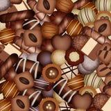 Chocolates background Stock Photo
