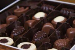 Chocolates belgas Fotografía de archivo