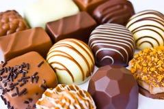 Chocolates belgas Imagen de archivo