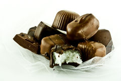 Chocolates with a Bite! Royalty Free Stock Photo