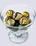 Chocolates blancos Fotografía de archivo