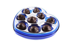 Chocolates in the blue box, Stock Image