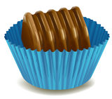 Chocolates in blue cup Royalty Free Stock Photos