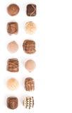 Chocolates border royalty free stock image
