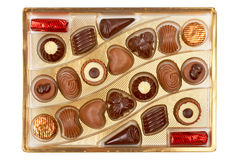 Chocolates in a box Stock Image