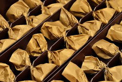 Chocolates in a box Royalty Free Stock Image