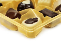 Chocolates in box Stock Photography