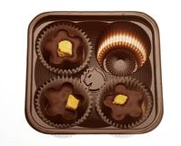 Chocolates in a box Stock Photo