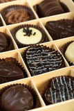 Chocolates in a box Valentine day Stock Photography