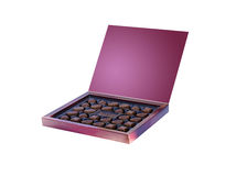 Chocolates in a box Royalty Free Stock Photography