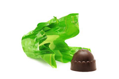 Chocolates and candy wrapper Stock Photography
