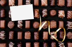 Chocolates and card Royalty Free Stock Photo