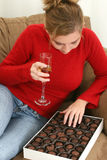 Chocolates and Champagne Royalty Free Stock Images
