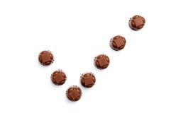 Chocolates check sign Royalty Free Stock Photo
