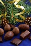 Chocolates for Christmas Stock Images