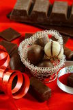 Chocolates for Christmas Royalty Free Stock Images
