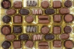 Chocolates clasificados Fotos de archivo libres de regalías