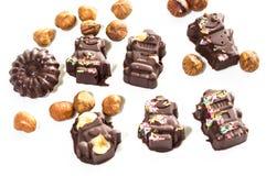 Chocolates clasificados Foto de archivo libre de regalías