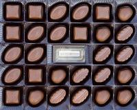 Chocolates close up Stock Photo