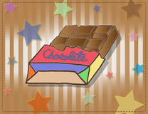Chocolates in colorful box. Royalty Free Stock Photography