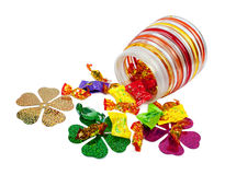 Chocolates in colorful wrappers Stock Image