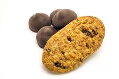 Chocolates com cookies saborosos Imagem de Stock Royalty Free