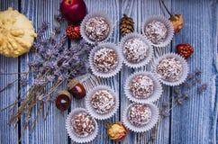 Chocolates con el coco Fotos de archivo libres de regalías