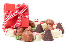 Chocolates, Confection, gift. On white background Stock Photo