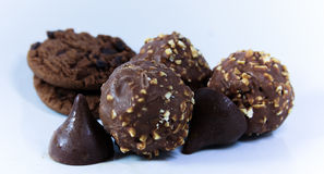 Chocolates and cookies Royalty Free Stock Image