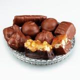 Chocolates - cosecha cuadrada Fotos de archivo