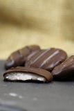 Chocolates cream filling slate Royalty Free Stock Photography