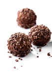 Chocolates with crumbs close-up Stock Photography