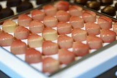 Chocolates da forma do coração Imagem de Stock Royalty Free
