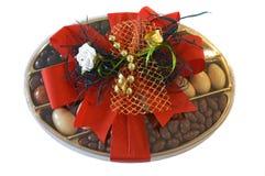 Chocolates de la Navidad Imagen de archivo libre de regalías