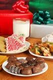 Chocolates de la Navidad Fotografía de archivo