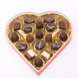 Chocolates de la tarjeta del día de San Valentín Imagen de archivo