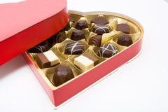 Chocolates de la tarjeta del día de San Valentín Fotos de archivo libres de regalías