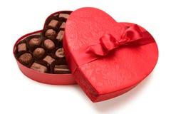 Chocolates de la tarjeta del día de San Valentín fotos de archivo