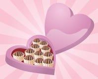 Chocolates de la tarjeta del día de San Valentín ilustración del vector