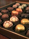 Chocolates de lujo Fotografía de archivo libre de regalías