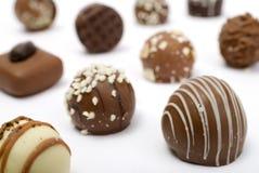 Chocolates de lujo Imagen de archivo libre de regalías