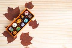 Chocolates de lujo para Halloween Imágenes de archivo libres de regalías