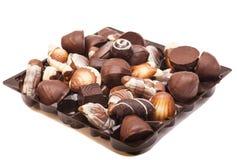 Chocolates de uma variedade Fotografia de Stock Royalty Free