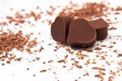 Chocolates del corazón Imágenes de archivo libres de regalías