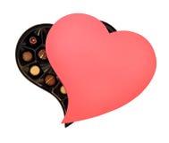 Chocolates del día de tarjetas del día de San Valentín del St Imagen de archivo libre de regalías