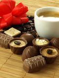 Chocolates for dessert Stock Images